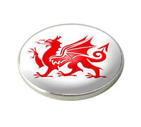 WALES RED DRAGON GOLF BALL MARKER. NATIONAL FLAG. BY ASBRI