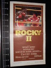 ★ Manifesto Locandina Rocky 2 II Stallone Vintage Poster Playbill ★