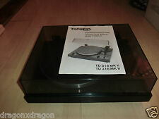 Thorens TD 318 MK II 2 High-End Plattenspieler Turntable, Anleitung, 2J.Garantie