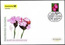 BRD 2009: Kartäusernelke Post-FDC der selbstklebenden Nr 2716 Bonner Stempel 159