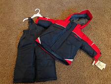 OSH KOSH boy's NWT 12M navy blue & red snowsuit bibs & zip up jacket w/hood