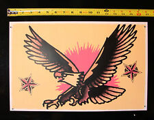 089 American Eagle Pin Up  vintage Sailor Jerry Traditional style Flash poster