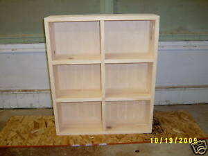 NEW 6 SECTION DVD STORAGE CABINET SHELF FREE COLOR