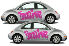 "VW Beetle ""mine"" autocollant-Autocollant Logo Graphique Voiture Volkswagen Camper Van"