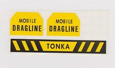 TONKA  MOBILE  DRAGLINE WITH  CAUTION  DECAL  SET