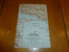 SOUTHERN CALIFORNIA - National Gegraphic MAP - ATLAS PLATE 69 - March 1966