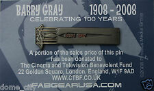 Barry Gray Lapel pin / Gerry Anderson Thunderbirds Space 1999 UFO Music! Brooch