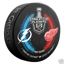 2016 Stanley Cup Playoffs Round 1 Puck Tampa Bay Lightning vs Detroit Red Wings