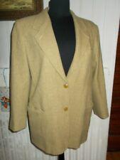 Veste blazer laine /cachemire jaune moucheté MAX MARA 2 boutons 42FR 10US 40D