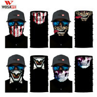 Skull Cycling Face Mask Motorcycle Head Scarf Neck Warmer Ski Balaclava Headband