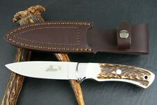 "HUBERTUS GERMAN COUNTRYLINE HUNTING KNIFE 440C / 3.94"" BLADE / STAG ** NEW **"