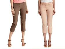 Ann Taylor Loft Marisa Casual Cropped Pants in Stretch Cotton Size 0P, 2P NWT