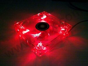 [Xilence] 120mm LED Rot/Red Gehäuse-Lüfter/Fan →12cm Case PC Transparent