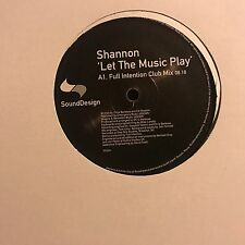 SHANNON • Let THE Music Play • Vinile 12 Mix • SOUNDDESIGN