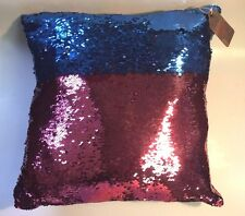 Valentine gift!!! Pink/ Blue Sequin Pillow Magic Glitter  Color Changing 16'' #1