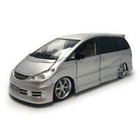 1:32 Toyota Previa Estima MPV Model Car Diecast Toy Vehicle Kids Silver Sound