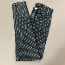 GUESS Women's Size 25W - 29L Skinny Leg Denim Jeans w/ White Polka Dots NWT 1981