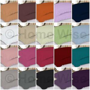 Frilled Luxury  2 x Pillow Cases Pair Plain Dyed Multi Colours Pillow Cases