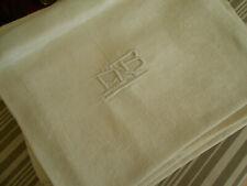 6 anciennes serviettes damassées lin soie monogramme AB 61x73cm