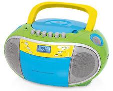 TERRIS Radio Tragbarer CD-Player Kassettendeck Boombox USB AUX IN UKW FM Grün
