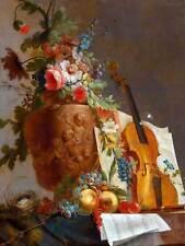 Dipinto ancora vita bachelier FIORI VIOLINO art print poster hp1808