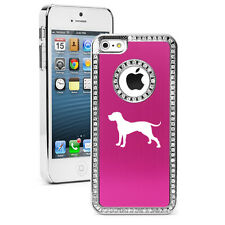 For iPhone 4 5 5s 5c 6 6s Plus Rhinestone Crystal Bling Case Cover Great Dane