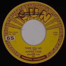 JOHNNY CASH: There You Go SUN 258 USA Rockabilly Country ORIG VG+ 45 HEAR