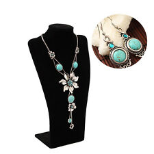 """Attractive 19"""" Flower Turquoise Necklace Pendant + Round Earrings  Blue Jewelry"""