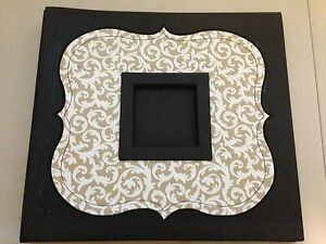 14x13 Black w/ Florial Frame Front Picture & Rear Cd Holder Special Event Album