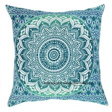 "16"" Indian Cushion Cover Mandala Decor Square Pillow Bohemian Meditation Yoga"
