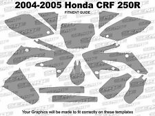 2004 2005 CRF 250R GRAPHICS KIT CRF250R 250 R DECO STICKER DECALS 4-STROKE