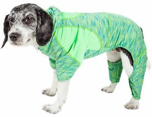 Pet Life  Active 'Downward Dog' Heathered Performance 4-Way Stretch Two-Toned...