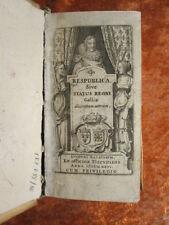 GESCHICHTE FRANKREICH KUPFERSTICH FRONTISPIZ ERSTAUSGABE ELZEVIER 1626 #D926S