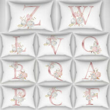 Rectangle 26 Letters Throw Pillow Case Back Cushion Cover Home Sofa Car Decor