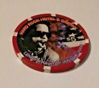 Hard Rock Hotel & Casino Las Vegas Lenny Kravitz July 28, 2000 $5 Chip