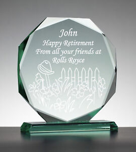 Personalised Engraved Glass Presentation Gift - Retirement Long Service