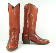 vintage frye cowboy boots womens 8.5 M brown cowgirl leather western mens 7 D