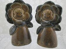 Vintage Retro Daisy Flower Ladies~Smiling Faces Salt & Pepper Shakers~Japan