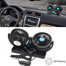 Adjustable 12V Dual Fan 360° Rotating Mini Air Fan Cooler For Truck Car Reliable