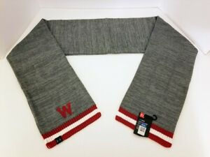 New Wisconsin Under Armour Acrylic Scarf with Tags FREE SHIPPING