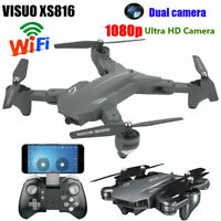 VISUO XS816 RC Drone FPV WiFi 1080P Dual Camera Positioning Foldable Drone C