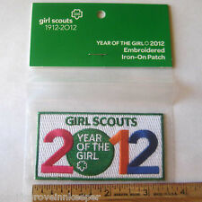 Girl Scout 2012 100 Anniversary YEAR OF GIRL PATCH Brownie Junior Uniform IronOn