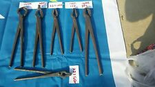 Blacksmith farrier tongs nippers x 6,  anvil  hand forged item Free Uk postage