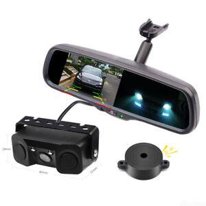 """4.3"""" Car Mirror Monitor No1 Bracket+3-In-1 Parking Radar Sensor Reversing Camera"""