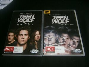 Teen Wolf : Season 3 : Part 1 & Part 2 - 2x DVD SERIES SETS- REGION 4 -FREE POST