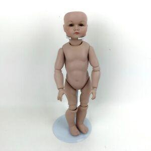 Vintage Doll Body Marked  K * R 117  SP / PS? Brown Eyes  Porcelain