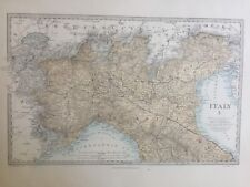 1865 Good size antique SDUK / Walker Map of Italy North