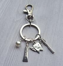 Dentist Dental Hygienist Assistant Tooth Fairy Charm Key Chain Keychain Clip