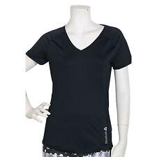 Reebok Ladies V neck T shirt Black sz XL Z82492