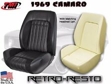 1969 Camaro Coupe - Deluxe Comfort-Weave Upholstery & Foam Kit w/ Headrest